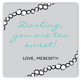 Tiffany Blue Gift Tag