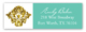Turquoise Glitter Damask Address Label