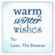 Warm Winter Wishes Gift Tag