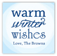 Warm Winter Wishes Square Sticker